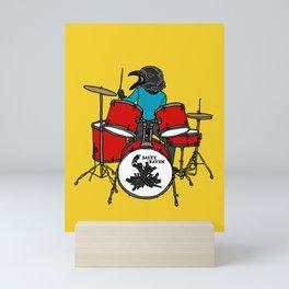 Salty Raven Drummer from Flock of Gerrys Mini Art Print