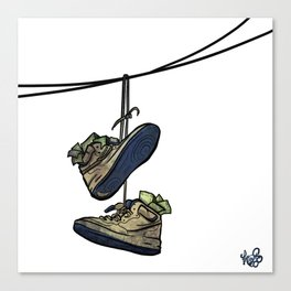 """Livin' For The City - """"Just For Kicks"""" Canvas Print"""