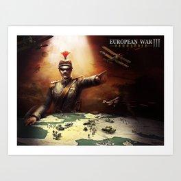 European War 3 poster Art Print