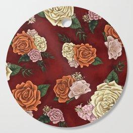 Red luxury flowers Cutting Board