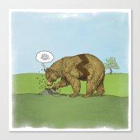 charlie brown Canvas Prints featuring Charlie Brown Bear by John Tibbott