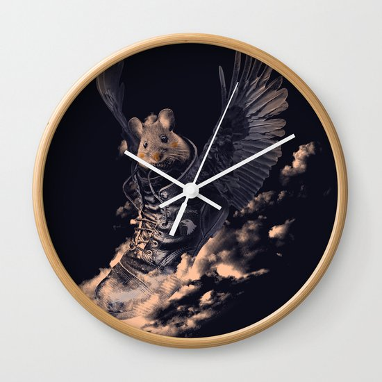 Flying Mouse Wall Clock