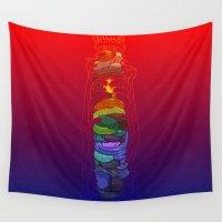 totem Wall Tapestries featuring Totem by David Lanham