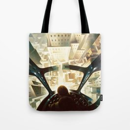 Nose Dive Into the City by T. Crali Tote Bag