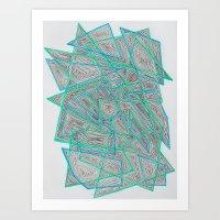 Criss-Cross Art Print