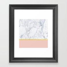 Marble Peach Framed Art Print