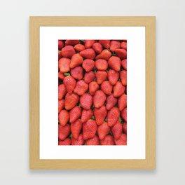 Fresas Framed Art Print