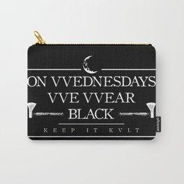 On VVednesdays VVe VVear Black Carry-All Pouch