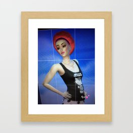 New Mara Autographed Print wearing her Hello Zombie tank and new hair style Framed Art Print