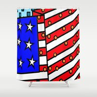 american Shower Curtains featuring American by Mariana