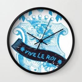 Vive le Roi Wall Clock