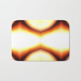 Abstract Orange Glow Bath Mat