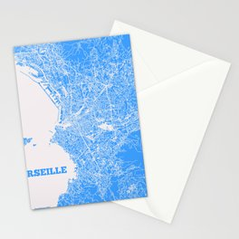 Marseille, France street map Stationery Cards