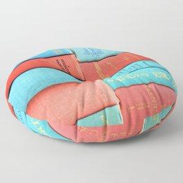 Pink and Aqua Book Stack Floor Pillow