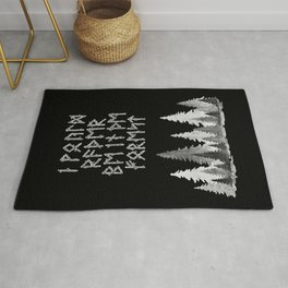 I'd Rather Be in the Forest II Rug