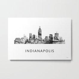 Indianapolis Indiana  Skyline WB BW Metal Print