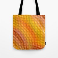 orange pattern Tote Bags featuring Pattern orange by Christine baessler