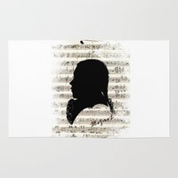 mozart Area & Throw Rugs featuring Mozart - Dies Irae by viva la revolucion