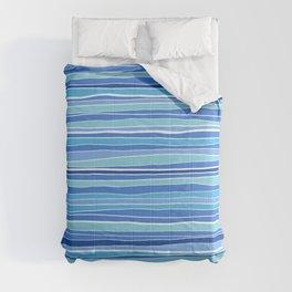 Classic Coastal Stripes / Blue Pattern Comforters