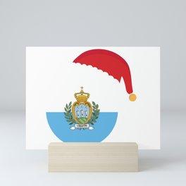 San Marino Christmas sant claus flag designs  Mini Art Print