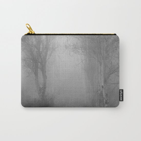 """Follow it,  love your forests....."". Monochrome Carry-All Pouch"