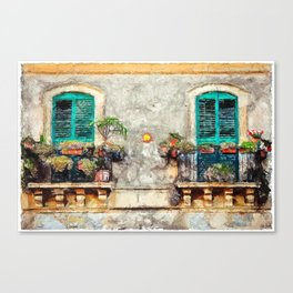 VERDE SHUTTERS VENICE ITALY Canvas Print