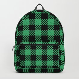 Medium Sea Green Bison Plaid Backpack