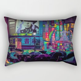 Tokyo Nights / Shibuya Neon Noir / Rain / Liam Wong Rectangular Pillow