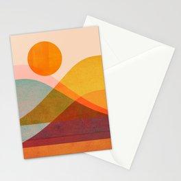 Abstraction_SUNSET_LANDSCAPE_POP_ART_Minimalism_018X Stationery Cards