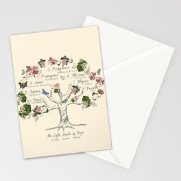 The Eight Limbs of Yoga Stationery Cards