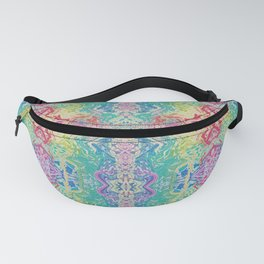 Rainbow Splash Watercolor Abstract Fanny Pack