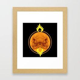 Burning Twins Framed Art Print