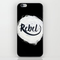 rebel iPhone & iPod Skins featuring Rebel by thezeegn