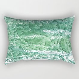 Sea green streaked watercolor pattern Rectangular Pillow