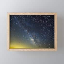 Milky Way bokeh Framed Mini Art Print