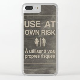 Use At Own Risk - English / French Clear iPhone Case