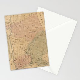 Vintage Long Island City NY Map (1876) Stationery Cards