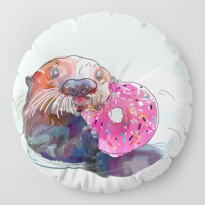 Otter Donut Floor Pillow