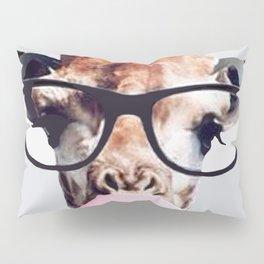 Giraffe wearing glasses blowing bubble gum Pillow Sham