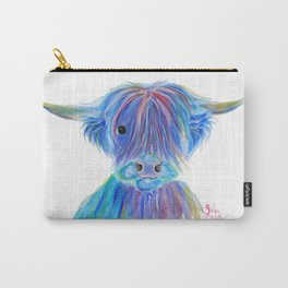 Scottish Highland Cow ' HIGHLAND BLOO ' by Shirley macArthur Carry-All Pouch
