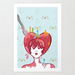 Miss cakehead Art Print