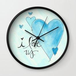 i love us  Wall Clock