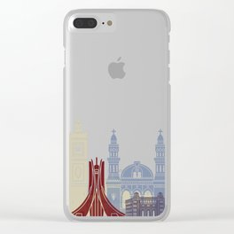 Algiers skyline poster Clear iPhone Case