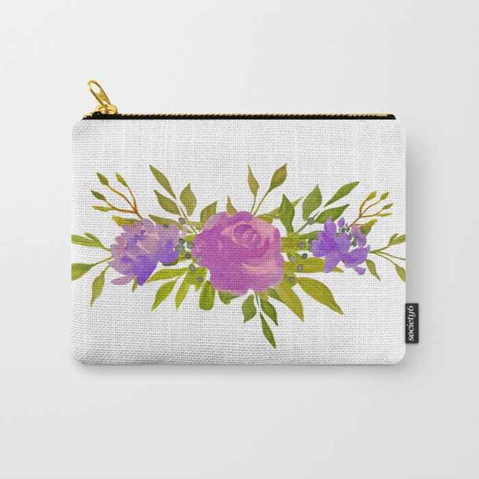 Flower Bunch Carry-All Pouch