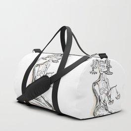 A woman as a sign Libra Duffle Bag