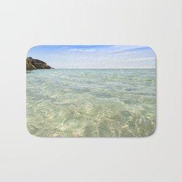 Clear blue, Pedn Vounder Beach, Cornwall Bath Mat