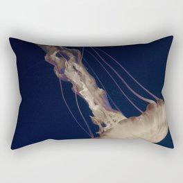 Vintage Retro Pop Art Jellyfish Aqua Ocean Beach Art Under the Sea Underwater Photography Print Rectangular Pillow