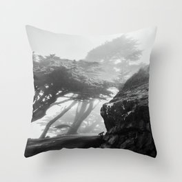 These Cool Trees at Point Reyes Throw Pillow