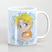 hetalia Mugs featuring Baby Hero by Jackce