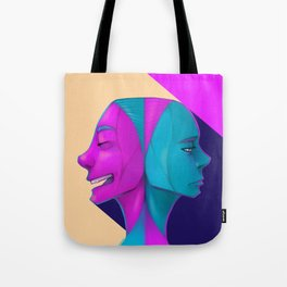 Duel of Face Tote Bag